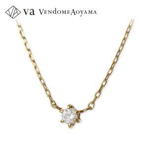 ゴールド ネックレス ダイヤモンド 一粒 彼女 プレゼント ヴイエーヴァンドームアオヤマ 誕生日 送料無料 レディース jwell