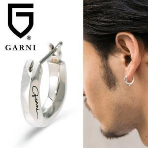 ピアス メンズ フープピアス 片耳 シンプル おしゃれ ブランド わっか シルバー ガルニ GARNI 左耳|jwell