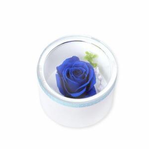 プリザーブドフラワー プレゼント ボックス 青いバラ アレンジメント お祝い おしゃれ|jwell