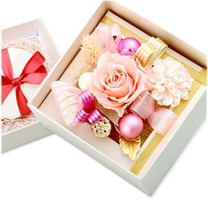 プリザーブドフラワー 彼女 誕生日プレゼント 記念日 ギフトラッピング カーネーション バラ メッセージカード付き あすつく オハナソムリエ|jwell