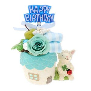 バースデーアニマル花器 プリザーブドフラワー おしゃれ 子ども お祝い プレゼント jwell
