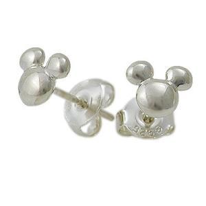 Disney シルバー ピアス 彼女 誕生日プレゼント 記念日 ディズニーアクセサリー ディズニー disney_y ミッキーマウス|jwell