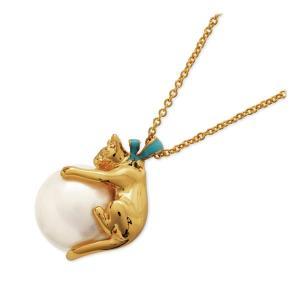 ヴァンドームブティック VENDOME BOUTIQUE メタル ネックレス 子猫 ネコ 彼女 誕生日プレゼント 記念日 ギフトラッピング レディース|jwell