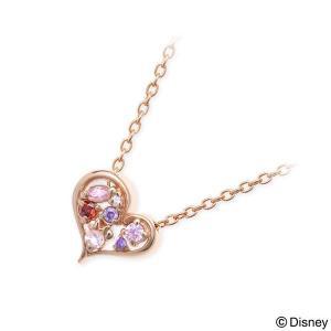Disney シルバー ネックレス ハート 名入れ 刻印 当店オリジナル 彼女 あすつく ウィスプ ディズニー ミニーマウス|jwell