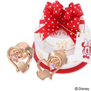 Disney シルバー ピアス ハート 名入れ 刻印 彼女 誕生日プレゼント 記念日 あすつく ウィスプ ディズニー disney_y ミニーマウス|jwell