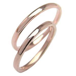 マリッジリング 結婚指輪 シンプル ストレート ピンクゴール...
