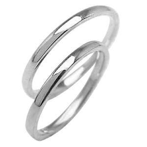 マリッジリング 結婚指輪 シンプル ストレート ホワイトゴールドK10 ペアリング 10金...