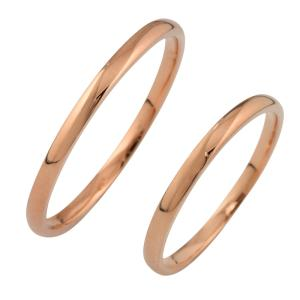ペアリング  10金 結婚指輪 マリッジリング ピンクゴール...
