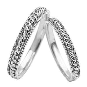 マリッジリング ツイストデザイン 結婚指輪 ホワイトゴールド...