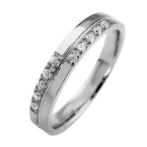 プラチナ900 ダイヤモンドクロスリング Pt900 指輪 jwl-i