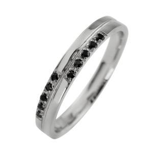 クロス メンズリング ブラックダイヤモンド プラチナ 指輪 Pt900 ピンキーリング jwl-i