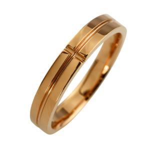 クロスリング ピンクゴールドK18 レディースリング K18PG 指輪 記念日 贈り物 ファッションリング jwl-i