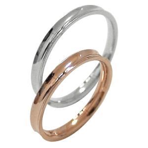 結婚指輪 マリッジリング ピンクゴールドK10 ホワイトゴー...