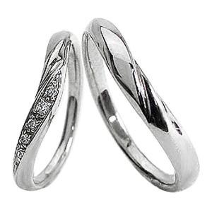 結婚指輪 プラチナ Vライン ダイヤモンド マリッジリング Pt900 V字 ペアリング 2本セット|jwl-i