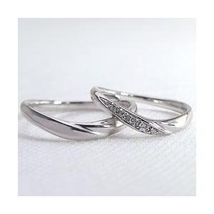 結婚指輪 プラチナ Vライン ダイヤモンド マリッジリング Pt900 V字 ペアリング 2本セット|jwl-i|02