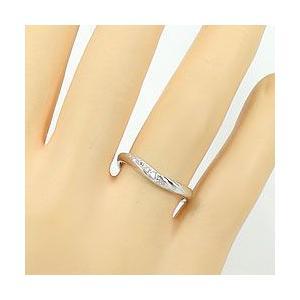 結婚指輪 プラチナ Vライン ダイヤモンド マリッジリング Pt900 V字 ペアリング 2本セット|jwl-i|04