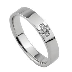 メンズ クロスダイヤモンドリング ホワイトゴールドK10 K10WG 指輪 十字架 Men's jwl-i