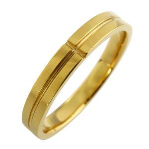 クロス メンズリング イエローゴールドK18 K18YG 十字架 指輪 ピンキーリング jwl-i