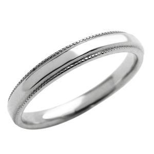 ミル打ち メンズリング K18WG 指輪 ピンキーリング jwl-i