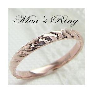 メンズリング ピンクゴールドK10 K10PG デザインリング 指輪 Men's jwl-i