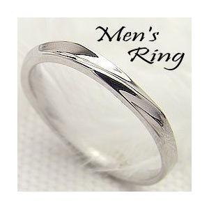 ホワイトゴールドK18 メンズリング K18WG デザイン 指輪 Men'sring 誕生日 記念日 jwl-i
