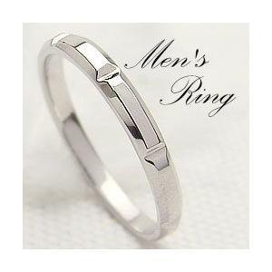 メンズリング ホワイトゴールドK10 K10WG シンプルデザイン 指輪 Men'sring 誕生日 記念日 jwl-i