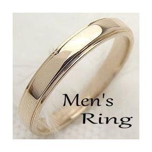 イエローゴールドK18 メンズリング Men'sRing K18YG 指輪 シンプルライン 贈り物 男性アクセサリー jwl-i
