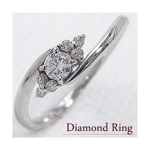 セブンストーン ダイヤモンド リング 0.16ct ホワイト...