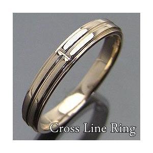 クロスラインメンズリング イエローゴールドK18 K18YG 指輪 Men'sring 誕生日 お買い得 jwl-i