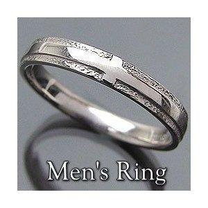 クロスリング K10WG メンズリング ホワイトゴールドK10 指輪 誕生日 アクセサリー オシャレ jwl-i
