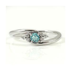 ブルートパーズリング 11月誕生石 ホワイトゴールドK18 ダイヤモンド ピンキーリング カラーストーン 誕生日 K18WG BlueTopazring|jwl-i