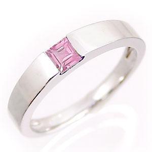 ピンクトルマリンリング ホワイトゴールドK10 10月誕生石|jwl-i
