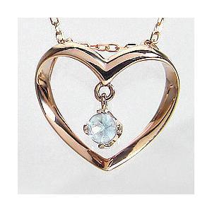 ハート ネックレス ブルームーンストーン 6月 誕生石 ピンクゴールドK10  Heart  ペンダント 誕生日 記念日 Bluemoonstone|jwl-i