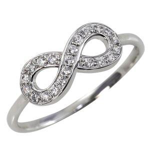プラチナ インフィニティ リング 天然 ダイヤモンド 21石 指輪 豪華 Pt900 無限 モチーフ ∞ピンキーリング ホワイトデー プレゼント|jwl-i