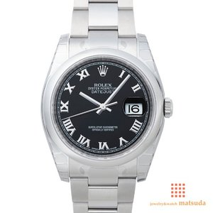 ロレックス 116200 デイトジャスト ブラックローマ...
