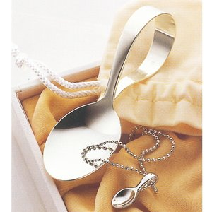 刻印無料! 銀製 ベビースプーン&ペンダントセット(スプーン) ◆ご出産のお祝いに◆ jwo-bessho