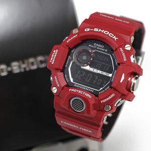 正規販売店で買う カシオ G-SHOCK  レンジマン 限定カラー MEN IN RESCUE RED メン・イン・レスキューレッド ソーラー電波|jwo-bessho