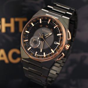 限定モデル シチズン サテライトウェーブF100 LIGHT IN BLACK  エコドライブ 衛星電波時計|jwo-bessho