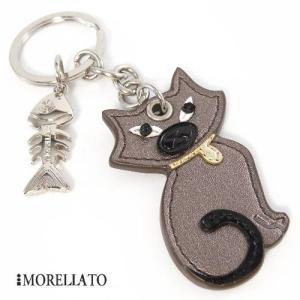 モレラート キーホルダー 【MORELLATO】 ネコと骨|jwo-bessho
