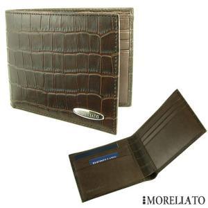 モレラート 2つ折り革財布 【MORELLATO】 型押しクロコ|jwo-bessho
