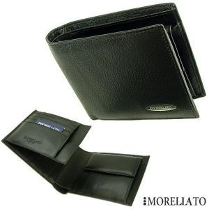 モレラート 3つ折り革財布 【MORELLATO】 ブラックカーフ|jwo-bessho