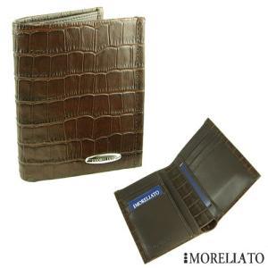 モレラート 縦長2つ折り革財布 【MORELLATO】 型押しクロコ|jwo-bessho