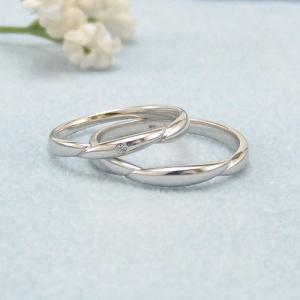 見てから決める!>>K18WG 結婚指輪 ヌーヴェル【nouvelle】 ディアレスト マリッジリング ペアリング 2本セット ◆サンプル貸出サービスあり!◆|jwo-bessho