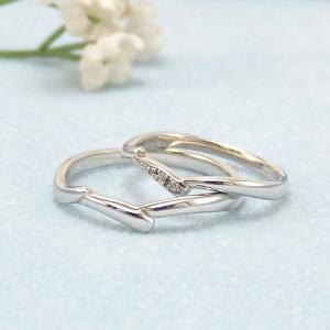 見てから決める!>>K18WG 結婚指輪 フルール【fleur】 ディアレスト マリッジリング ペアリング 2本セット ◆サンプル貸出サービスあり!◆|jwo-bessho