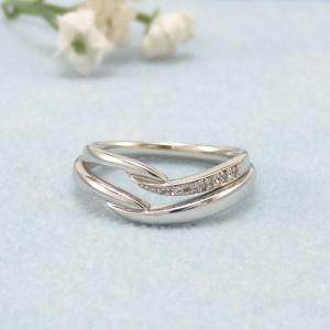 見てから決める!>>K18WG 結婚指輪 リヴァージュ【rivage】 ディアレスト マリッジリング ペアリング 2本セット ◆サンプル貸出サービスあり!◆|jwo-bessho