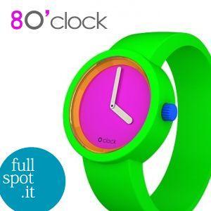 オクロック 【O clock】 限定色80'sポップ フローグリーン(蛍光緑) イタリア生まれのアートウォッチ|jwo-bessho