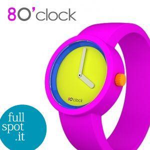 オクロック 【O clock】 限定色80'sポップ フローピンク(蛍光桃) イタリア生まれのアートウォッチ|jwo-bessho