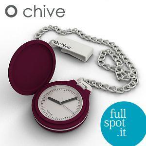 オ・チャイブ 【O chive】 ボルドー アートな懐中時計|jwo-bessho