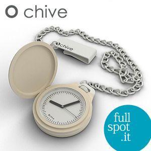 オ・チャイブ 【O chive】 クリーム アートな懐中時計|jwo-bessho