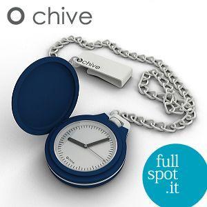 オ・チャイブ 【O chive】 ダークブルー アートな懐中時計|jwo-bessho
